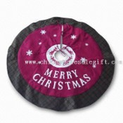 42-inch Christmas Tree Skirt with Red/Green Check Color images