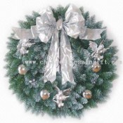 Decorated Fraser Fir Wreath and 50 Lights images