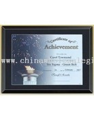 Stylish Black Glass Certificate Plaque images