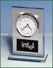 Glass Corporate Recognition Mantle Clock