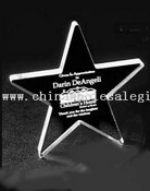 Clear Acrylic Star Award Trophy images