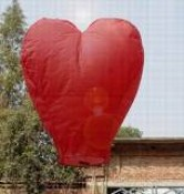 Red Heart Shape Sky Lantern and Water Lantern images