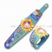 Promotional UV Solar Watch with Large Space Logo All Over Band images