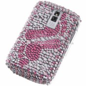 BlackBerry 9000 Footprint Pattern Bling Rhinestone Hard Plastic Back Case Cover images
