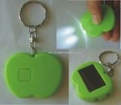 Apple Shaped Solar LED Keychain images