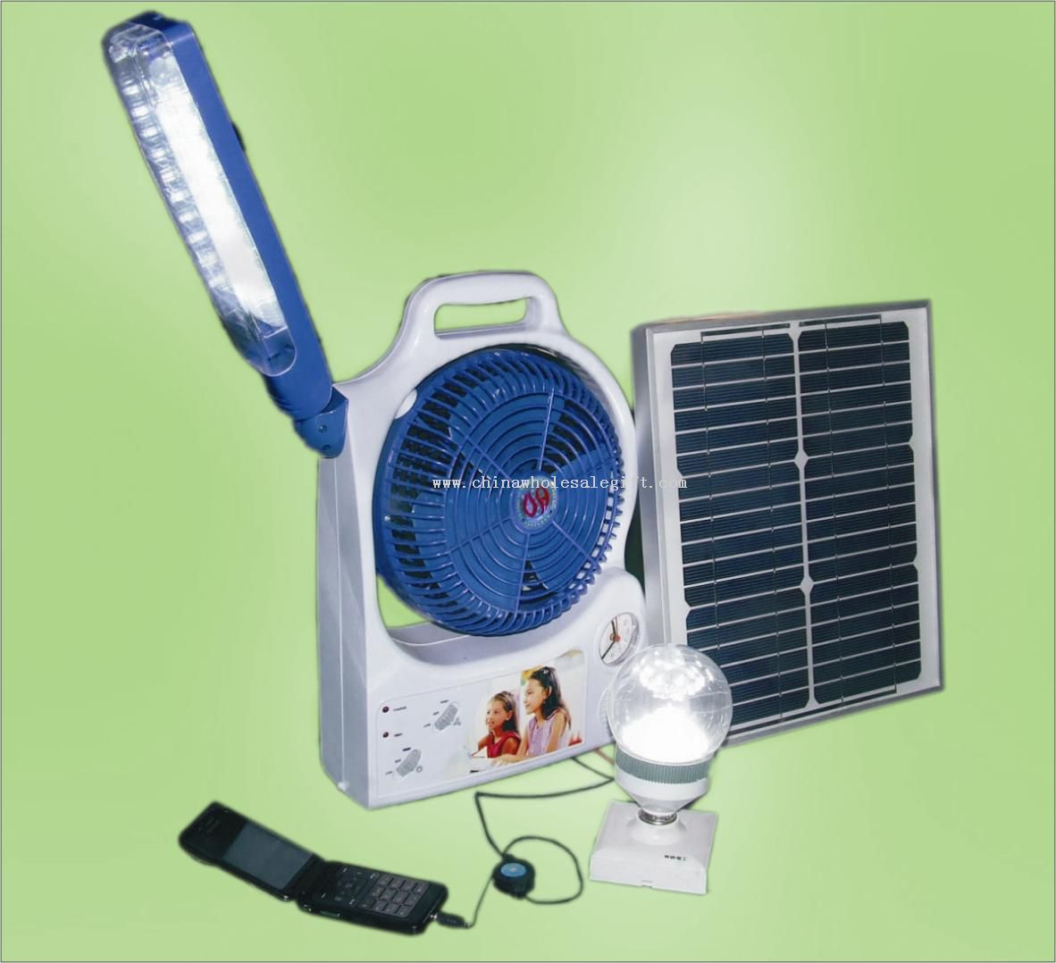 Solar Fan with Lighting