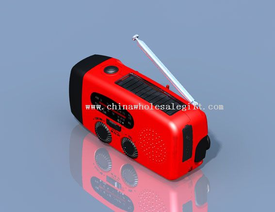 Solar Hand Crank Flashlight Radio
