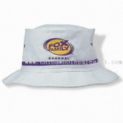 Bucket Hat with Tall Crown for Larger Embroidery, Contrast Piping to Match Embroidery images