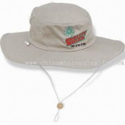 Bucket Hat with Wide Brim and Chin Strap, Made of Cotton Twill Fabric for Outback images