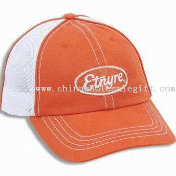 D-ring Closure Cool Chino Twill Cotton Cap with Double Mesh Back and Pre-curved Visor