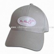 100% Organic Cotton Baseball Cap, Front with Patch Embroidery images