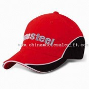 Baseball/Golf Cap with Embroidery and Metal Buckle, Made of Cotton Twill images