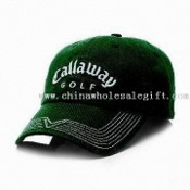 Golf Cap with Printing, Customized Embroidery Designs are Accepted, Made of 100% Cotton Twill images