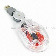 Transparent Body Portable Mouse for Notebook Computer images
