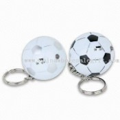 Football Shaped Key Finder Keychains, Made of ABS Plastic images