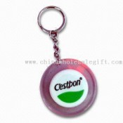 Lid-shaped Key Finder Keychain with Large Logo Space, Suitable for Promotion images