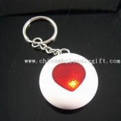 Round-shaped Key-finder Keychain with Heart Shape Window, Made of ABS Plastic images