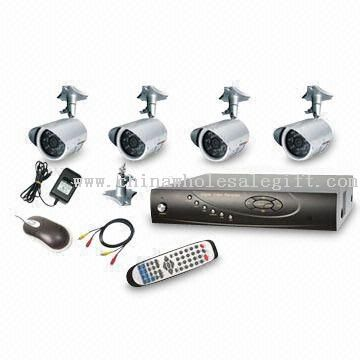 4 Channel Surveillance Kit, Home/office Small Surveillance System for Self Installation
