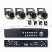 Waterproof Security Camera Kit with 1/4-inch Sharp CCD Image Sensor and 15m LED Distance images