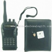 Wireless Micro Spy Inductive Earpiece Kit with Walkie-talkie and Wallet Transmitter images