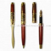 Wooden Letter Opener, Ball/Roller/Fountain Pen Sets, Measuring 140 x 12mm images