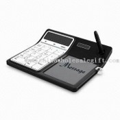 Eco Memo Board, 12 Digits Solar Calculator,Magnetic Pen,Write and Erase Easily, CE/RoHS/FCC Approval images