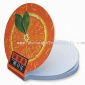 Fruit Shaped Sticky Notepad/Memo Pad with 50 Sheets Offset Paper and Glue Binding images