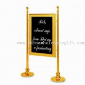 Information Stand/Sign Board with Mirror and Gold Plating, Suitable for Restaurants and Hotels images