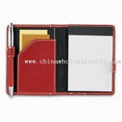 Note Pad with Document and Business Card Pocket, Includes 3 x 4.5-inch Jotter Pad images