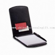 Note Pad with Elastic Pen Loop and Business Card Pocket, Includes 3 x 4.75-inch Writing Pad images