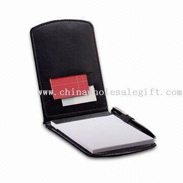 Note Pad with Elastic Pen Loop and Business Card Pocket, Includes 3 x 4.75-inch Writing Pad