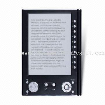 6-inch E-book Reader with 800 x 600 Pixels Resolution and 16/32MB Internal Memory