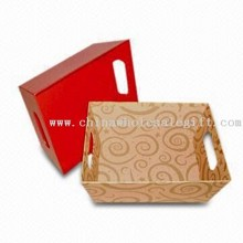 File Tray, Available in Various Sizes, Made of Cardboard, Art Paper, or Silver/Golden Paper images
