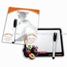 Magnetic Writing Board with Magnetic Board Markers; Board Can be Wiped Clean for Reuse images