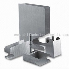 Stationery Set with File Holder, Pen holder, Pad Holder and Letter Tray images