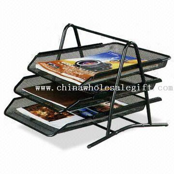 file traydesk organizer made of metal available in 3 4 or - Desk Organizer Tray
