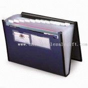 Portfolio Briefcase with Buckle Closure and 12 Inside Pockets, Made of PP, Plastic Handle images