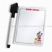 Refrigerator Magnet writing board with a eraserable maker with Width of 21.5cm and Length of28cm images