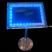 Stainless Standing LED Writing Board, Measuring 300 x 400 x 750mm images