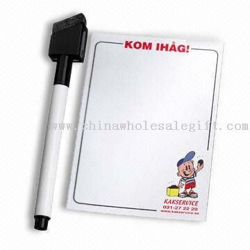 Refrigerator Magnet writing board with a eraserable maker with Width of 21.5cm and Length of28cm
