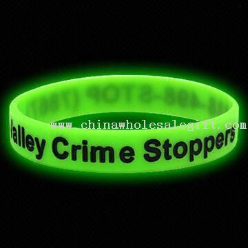 Glow-in-the-dark silikon gelang/gelang (hijau)