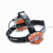 4-piece LED and Halogen Bulb Rainproof Head Lamp images