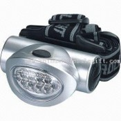 Bright LED Head Light with 2 Red LEDs for Emergency Communication and 3 x AAA Battery images