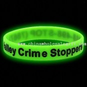 Glow-in-the-dark silicone Wristband / Bracelet (Green) images