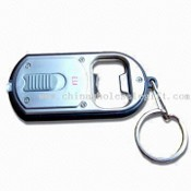 Multifunction Keychain, Composed of Stainless Steel Opener, Keyring and Torch images