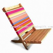 Wooden Beach Chair, Measures 47 x 35 x 50cm, Heat-transfer Printing images
