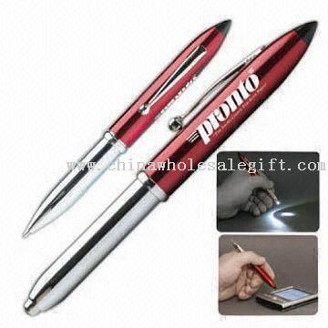 Three-in-One PDA Pen with Super White LED Torch
