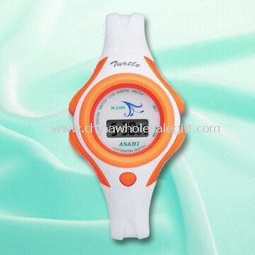 Childrens 5.5-digit LCD Watch with Plastic Strap