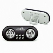 Digital Alarm Desk Clock with Calendar and Transparent LCD Display images