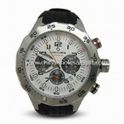 Mens Watch for Commerce, with Stainless Steel Case, Silicon Strap, and Sapphire Crystals images